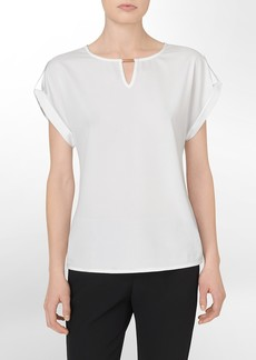 hardware detail side tab short sleeve top
