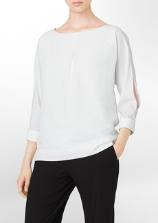 open shoulder 3/4 sleeve top
