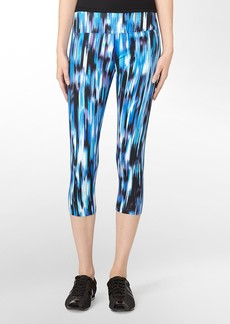 performance abstract haywire print cropped leggings