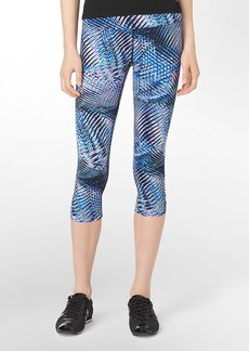 performance abstract print cropped leggings