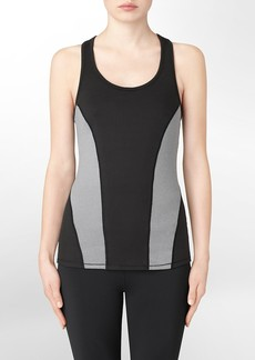 performance colorblock reflective tank top