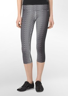 performance jumble print ruched detail cropped leggings