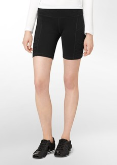performance ruched detail biker shorts