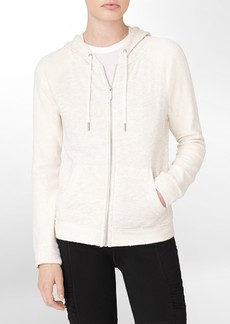 performance zip front hooded jacket