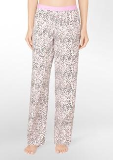 printed roll-up pajama pants