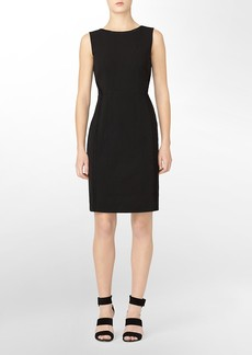 seam detail sleeveless sheath dress