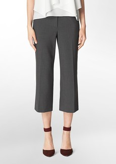straight fit cropped pants