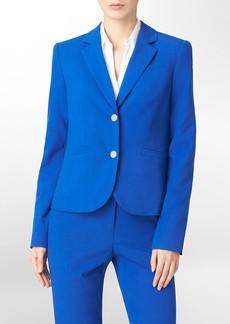 two button cobalt blue suit jacket