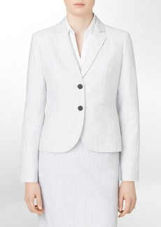 two button mini pinstripe suit jacket