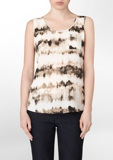 washed abstract sleeveless top