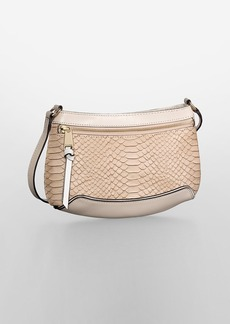 washington snake textured leather crossbody