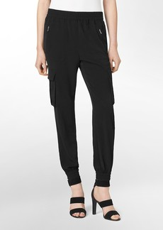 zip detail tapered pants