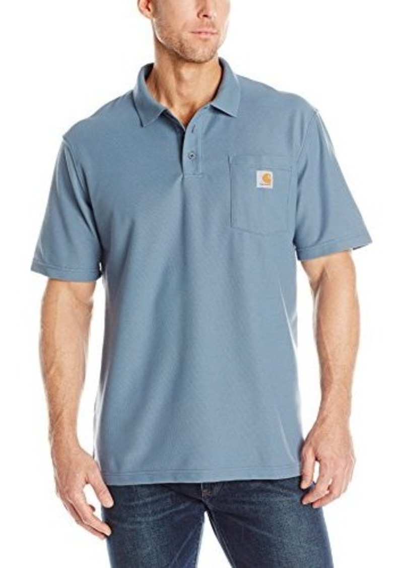 Carhartt carhartt men 39 s big tall contractors work pocket for Big and tall polo shirts with pockets