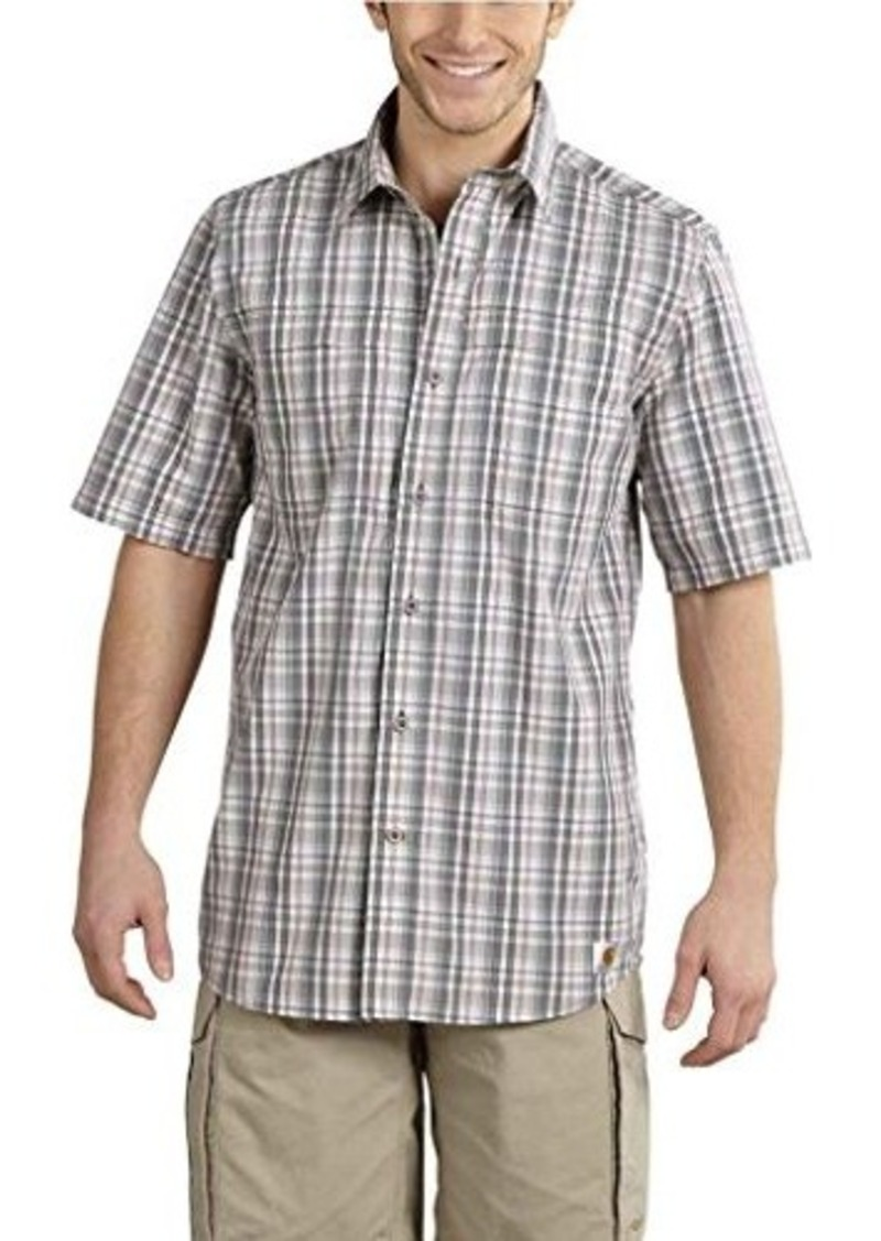 Carhartt carhartt men 39 s big tall force mandan plaid for Big and tall casual shirts