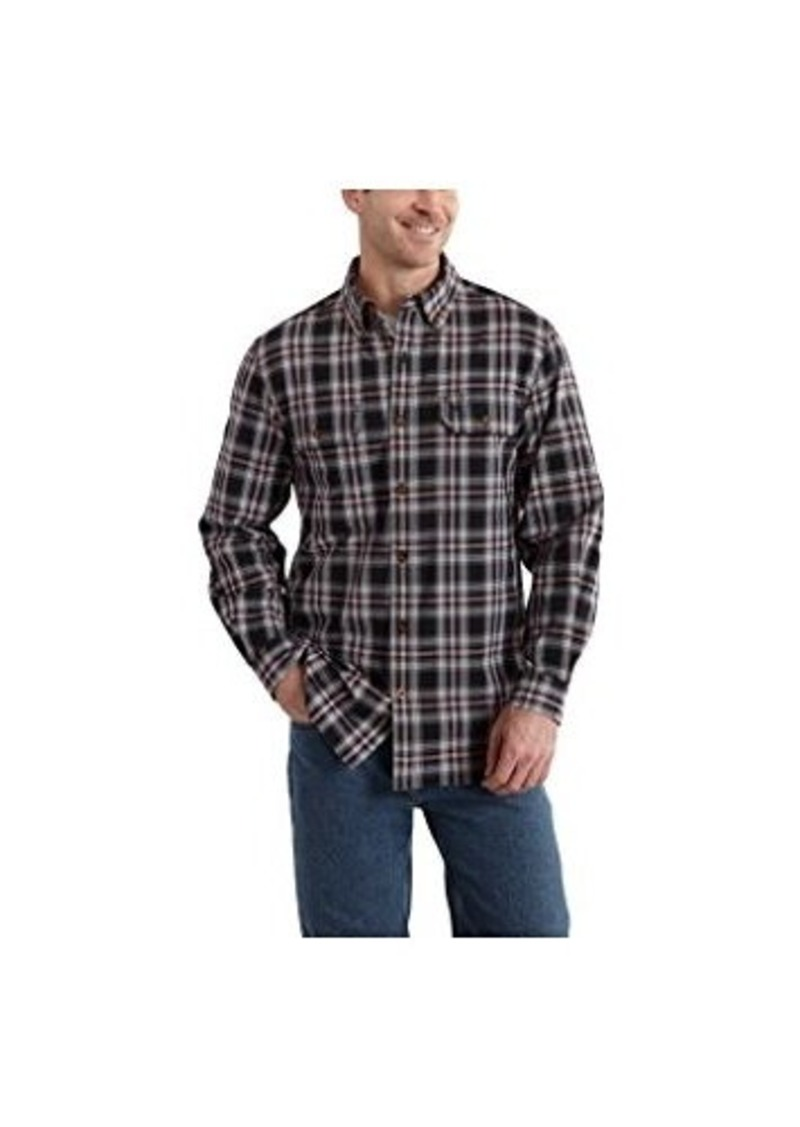 Carhartt carhartt men 39 s big tall fort plaid long sleeve for Big and tall long sleeve shirts