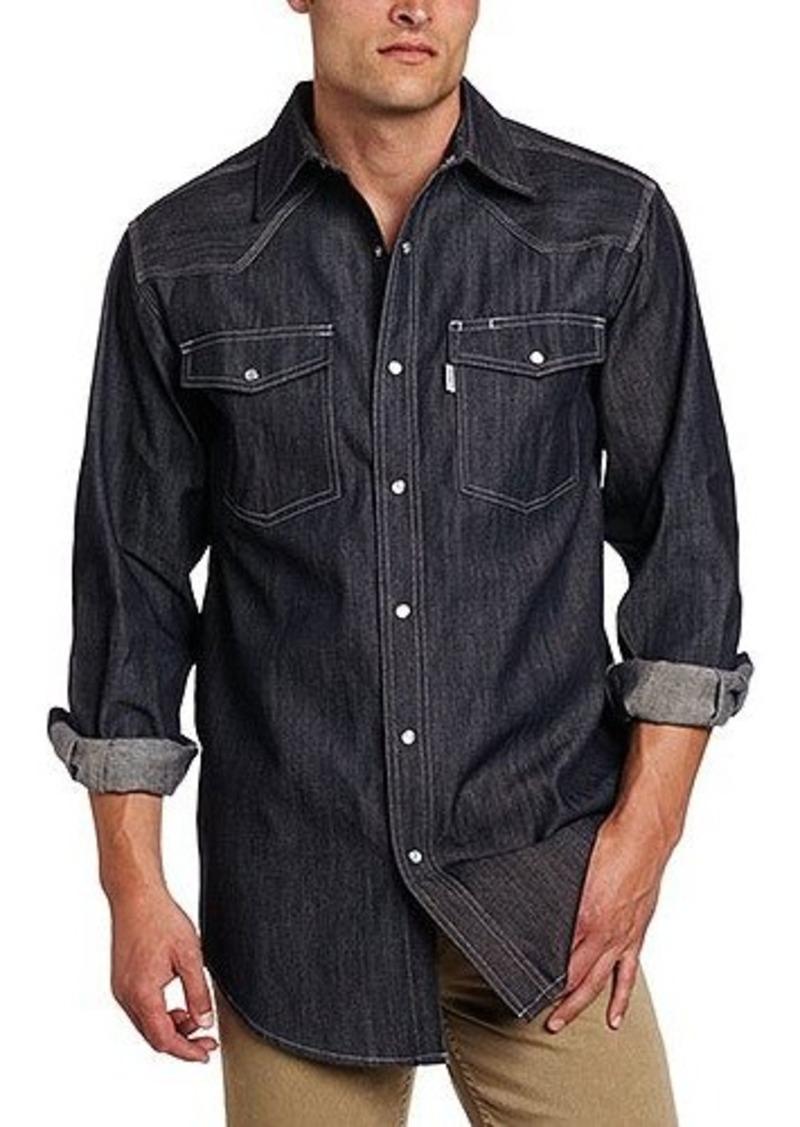 Carhartt carhartt men 39 s big tall ironwood denim work for Carhartt work shirts tall