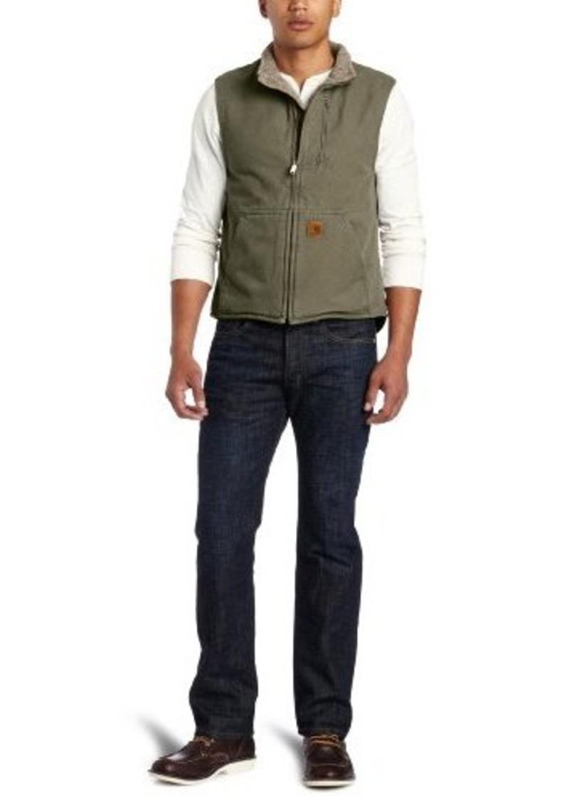 Carhartt carhartt men 39 s big tall sherpa lined sandstone for Big and tall mock turtleneck shirt