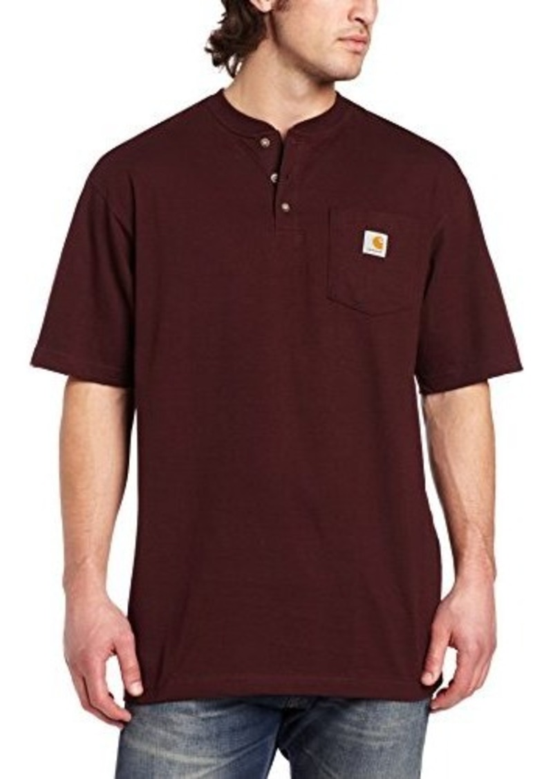 Carhartt carhartt men 39 s big tall workwear pocket short for Mens xl tall henley shirts