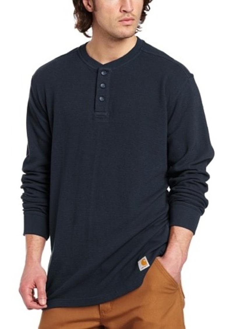 Carhartt carhartt men 39 s tall textured knit henley casual for Mens xl tall henley shirts