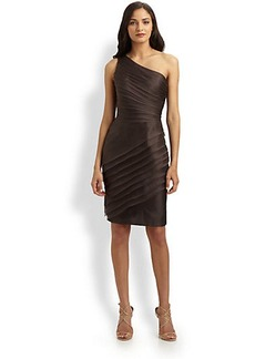 Carmen Marc Valvo Asymmetrical Organza Dress