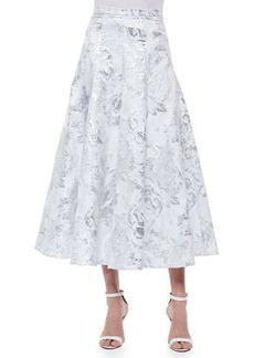 Carmen Marc Valvo Brocade Matinee A-line Skirt