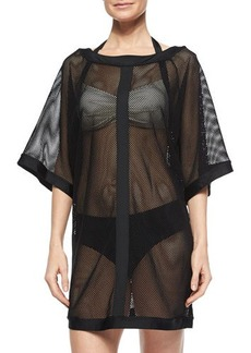 Carmen Marc Valvo City Slick Sheer Mesh Coverup  City Slick Sheer Mesh Coverup