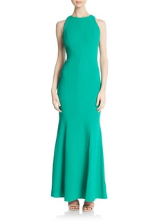 Carmen Marc Valvo Collection Crepe Cutaway Gown