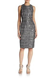 Carmen Marc Valvo Collection Sequined Sheath Dress