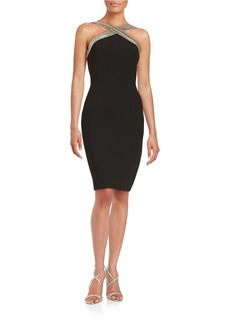 CARMEN MARC VALVO Crisscross Sheath Dress