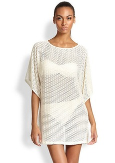 Carmen Marc Valvo Crocheted Cover-Up