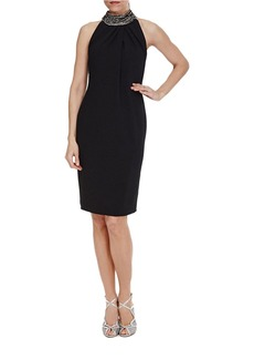 CARMEN MARC VALVO Embellished Sheath Dress