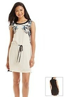 Carmen Marc Valvo Floral Drawstring Dress
