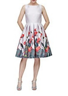 CARMEN MARC VALVO Floral Fit-and-Flare Dress