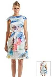 Carmen Marc Valvo Floral Fit And Flare Dress