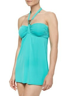 Carmen Marc Valvo Halter-Neck Swimdress