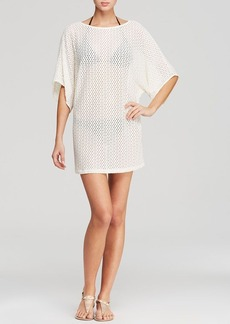 Carmen Marc Valvo Kaleidoscope Snake Tunic Swim Cover Up
