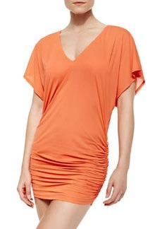 Carmen Marc Valvo Kimono Sleeve Cover-Up Dress