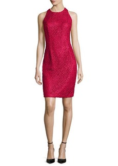 Carmen Marc Valvo Lace Sleeveless Sheath Dress