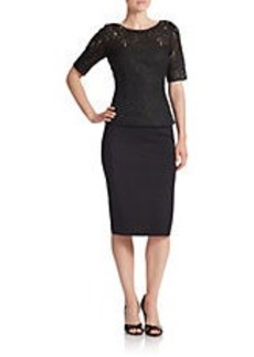 CARMEN MARC VALVO Lace Two-Piece Dress
