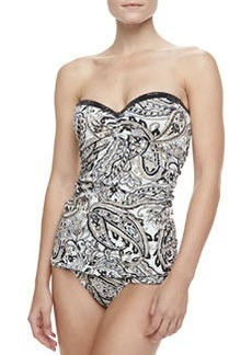 Carmen Marc Valvo Marrakech Imperial Printed Swimdress
