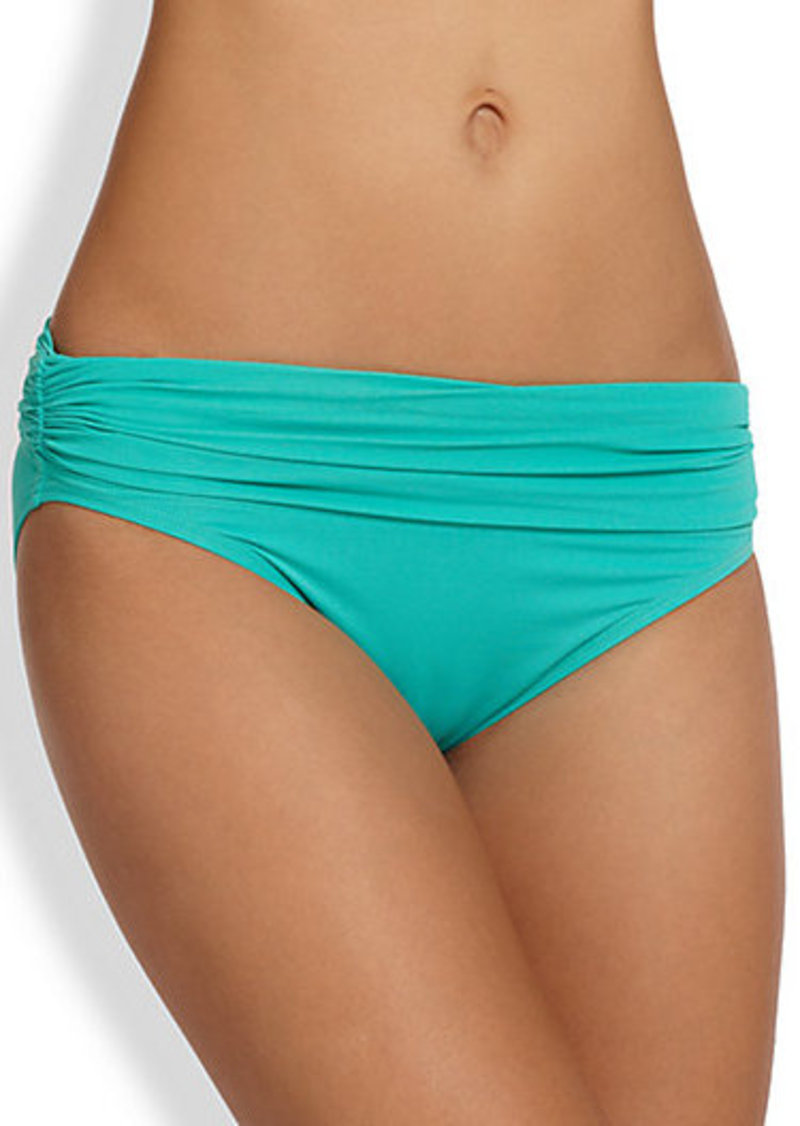 Carmen Marc Valvo Mediterranean Shirred Bikini Bottom