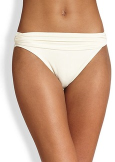 Carmen Marc Valvo Mediterranean Solids Shirred Band Bikini Bottom