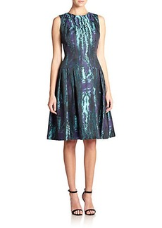 Carmen Marc Valvo Moire Party Dress