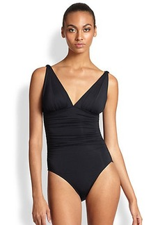 Carmen Marc Valvo One-Piece Mediterranean Solids Swimsuit