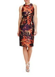 CARMEN MARC VALVO Paprika Floral Shift Dress