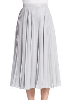 CARMEN MARC VALVO Pleated Midi Skirt
