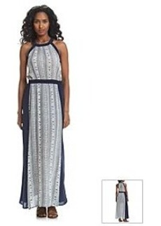 Carmen Marc Valvo Printed Maxi Dress