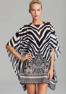 Carmen Marc Valvo Rococo Revival Swim Cover Up Caftan Tunic
