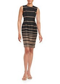 CARMEN MARC VALVO Scalloped Shift Dress