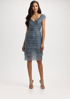 Carmen Marc Valvo Silk Organza Dress